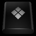 Black, Bootcamp, Drive Icon