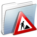 Folder, Graphite, Stripped, Works Icon