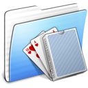 Aqua, Card, Deck, Folder, Stripped Icon