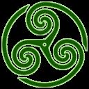 Green, Triskelion, Wheeled Icon