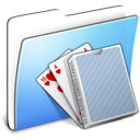 Aqua, Card, Deck, Folder, Smooth Icon