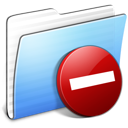 Aqua, Folder, Private, Stripped Icon