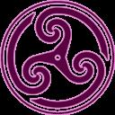 Mauve, Triskelion, Wheeled Icon