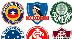 South American Football Club Icons