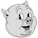 Old, Porky Icon