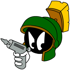 Angry, Gun, Martian, Marvin, With Icon