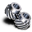 Gear, Helical Icon