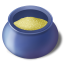 Bowl, Filled, Sugar Icon