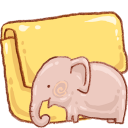 Elephant, Folder, Hp Icon