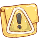 Caution, Folder, Hp Icon