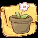 Flowerpot, Folder, Hp Icon