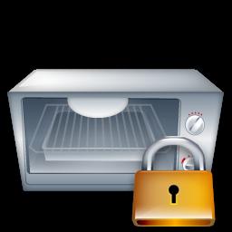 Lock, Oven Icon