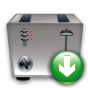 Down, Toaster Icon