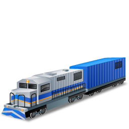 Blue, Boxcar, Diesellocomotive Icon