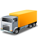 Truck, Yellow Icon