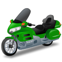 Green, Touringmotorcycle Icon
