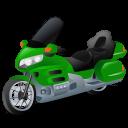 Green, Touringmotorcycle Icon