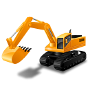 Excavator, Yellow Icon