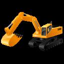 Excavator, Yellow Icon