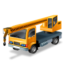 Truckmountedcrane, Yellow Icon