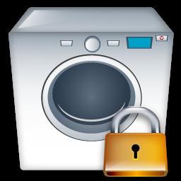 Lock, Machine, Washing Icon
