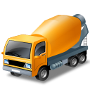 Mixertruck, Yellow Icon
