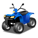 Blue, Quadbike Icon