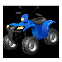 Blue, Quadbike Icon