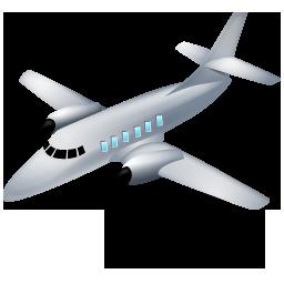 Airplane, Grey Icon