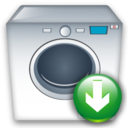 Down, Machine, Washing Icon