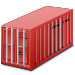 Container, Red Icon