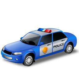 Blue, Policecar Icon