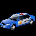 Blue, Policecar Icon