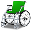 Green, Wheelchair Icon