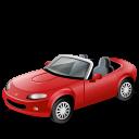 Cabriolet, Red Icon