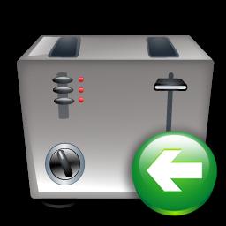 Back, Toaster Icon