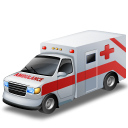 Ambulance, Red Icon