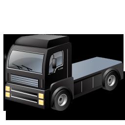 Black, Tractorunit Icon