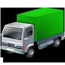 Green, Lorry Icon