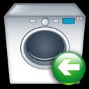 Back, Machine, Washing Icon