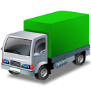 Green, Lorry Icon