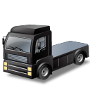 Black, Tractorunit Icon