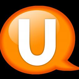 Balloon, Orange, Speech, u Icon