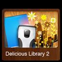 2v, Delicious, Library Icon