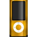 Ipod, Nano, Orange Icon