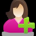 Add, Female, User Icon
