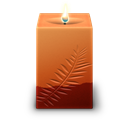 Candle, Square Icon