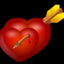 And, Arrow, Hearts Icon