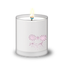Candle, Frosted, Glass Icon