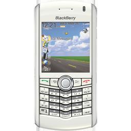 Blackberry, Pearl, White Icon